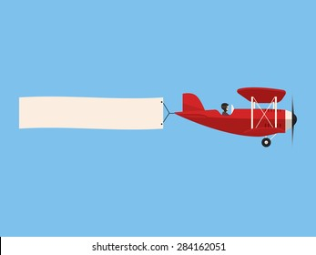 Airplane with poster