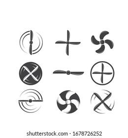 airplane propeller  vector illustration design template
