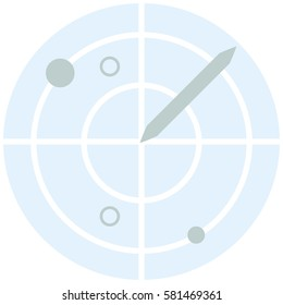 Airplane radar - Infographic Icon Elements from Aircraft and Airport Set. Flat Thin Line Icon Pictogram for Website and Mobile Application Graphics.
