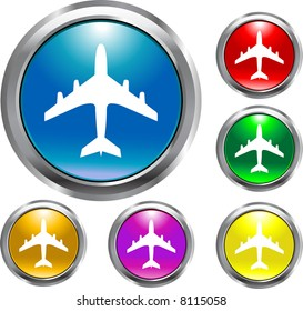 Airplane Round Buttons