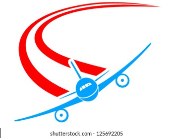 airplane sign - vector illustration