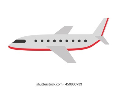 airplane silhouette  isolated icon design, vector illustration  graphic