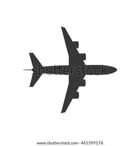 airplane silhouette travel transporation flying icon stock vector