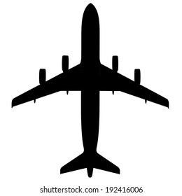 Airplane silhouette- Vector