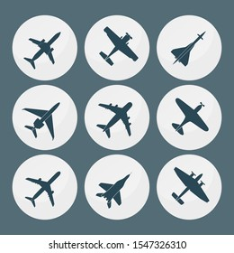 Airplane silhouettes pack - vector