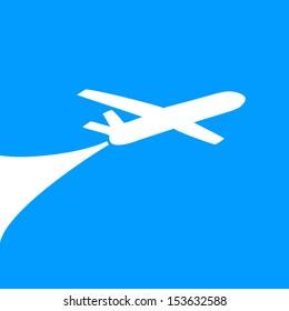Airplane symbol design. vector