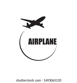 Airplane symbol vector design logo element