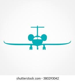 airplane symbol. vector illustration.