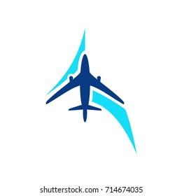 travel logo template sun sea flying stock vector royalty free