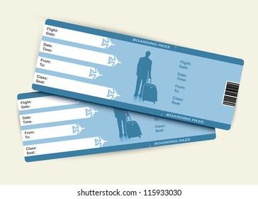 Airplane tickets - vector illustration