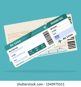 Airplane ticket,Train ticket. Travel to different countries.