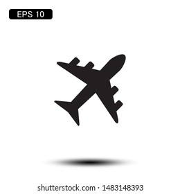 airplane transportation icon vector illustration logo template