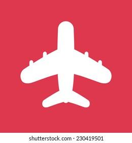 Airplane travel icon. Flat style