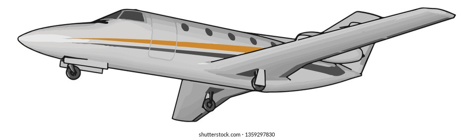 Airplane travel is one of the most common forms of transportation to get to overseas destinations Use of air travel has greatly increased in recent decades vector color drawing or illustration