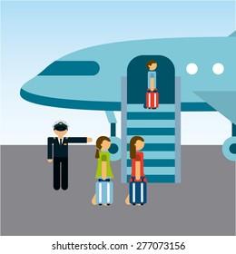 airplane travle design, vector illustration eps10 graphic