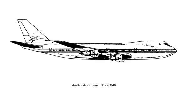 Airplane Vector 01