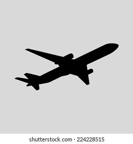 Airplane. Vector.