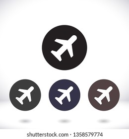 airplane vector icon