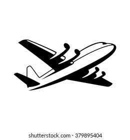 Airplane. Vector icon.
