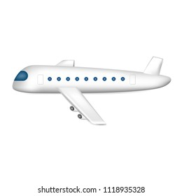 Airplane. Vector illustration. Isolated on white.