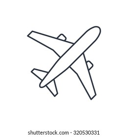 Airplane outline images stock photos vectors shutterstock for Airplane cut out template