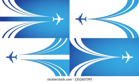 Airplane vector symbol