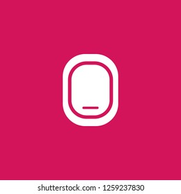 Airplane Window Closed icon vector. Airplane Window Closed sign on pink background. Airplane Window Closed icon for web and app