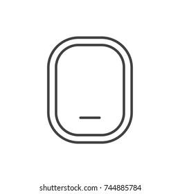 Airplane window closed line icon.