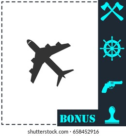Airplanes icon flat. Simple vector symbol and bonus icon