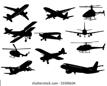 Airplanes sand helicopters