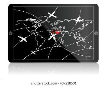 airplanes trafficon tablet