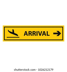 airport arrival sign, vector icon