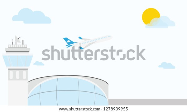 Airport Atc Plane Stock Vector (Royalty Free) 1278939955