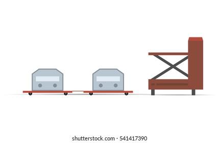 Airport cargo loading