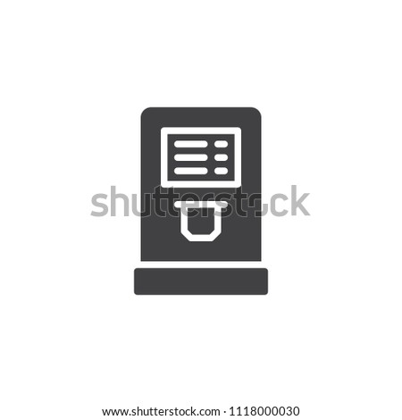 Airport Check Terminal Vector Icon Filled Stock Vector