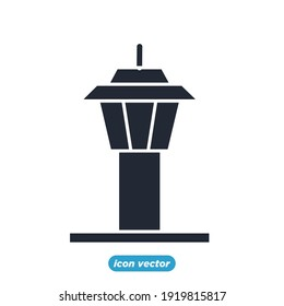 airport control tower icon. airport control tower symbol template for graphic and web design collection logo vector illustration