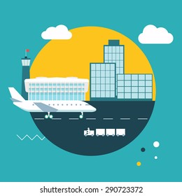 Airport. Cool vector