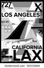 Airport Departure and Arrival sign, Los Angeles International Airport