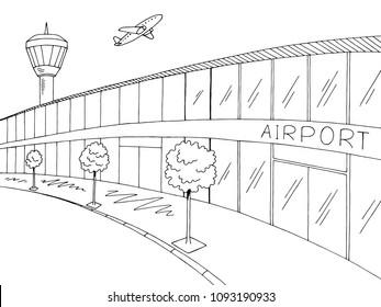 Airport Sketch Doodle Images Stock Photos Vectors Shutterstock