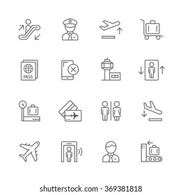 Airport icons.