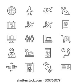 Airport Icons Line