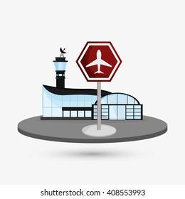 airport illustration design, editable vector