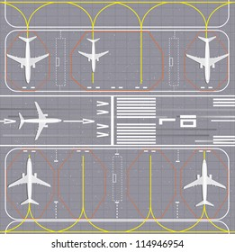Airport layout. Vector Illustration.