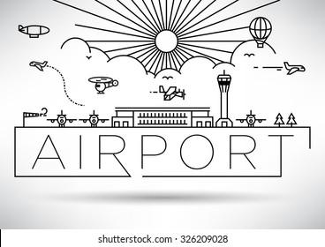Airport Linear Vector Design