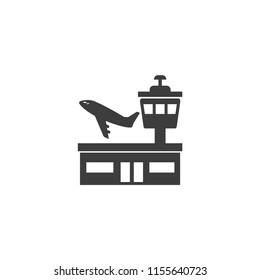 Airport, plane fly Vector Icon, Eps10