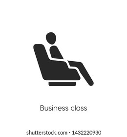 airport seat icon vector. Seat symbol. Linear style sign for mobile concept and web design. airport seat symbol illustration. Pixel vector graphics - Vector.