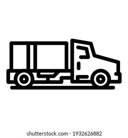 Airport service truck icon. Outline airport service truck vector icon for web design isolated on white background