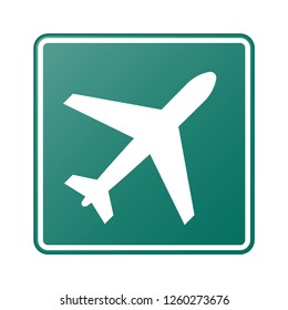 Airport sign on green board