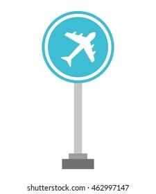 airport sign traffic icon vector illustration design