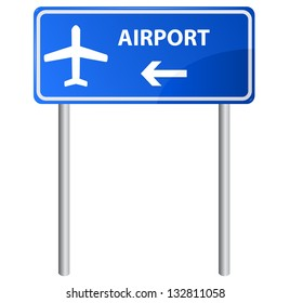 Airport sign, vector.
